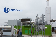 Electricity from biogas power station